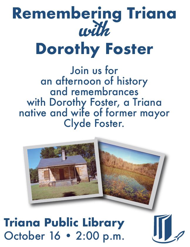 Remembering Triana with Dorothy Foster at the Triana Public Library